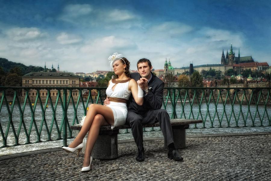 Свадьба в дворцовых садах Праги