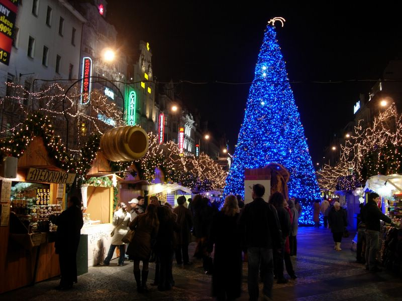 Wenceslas Square and the Christmas market
