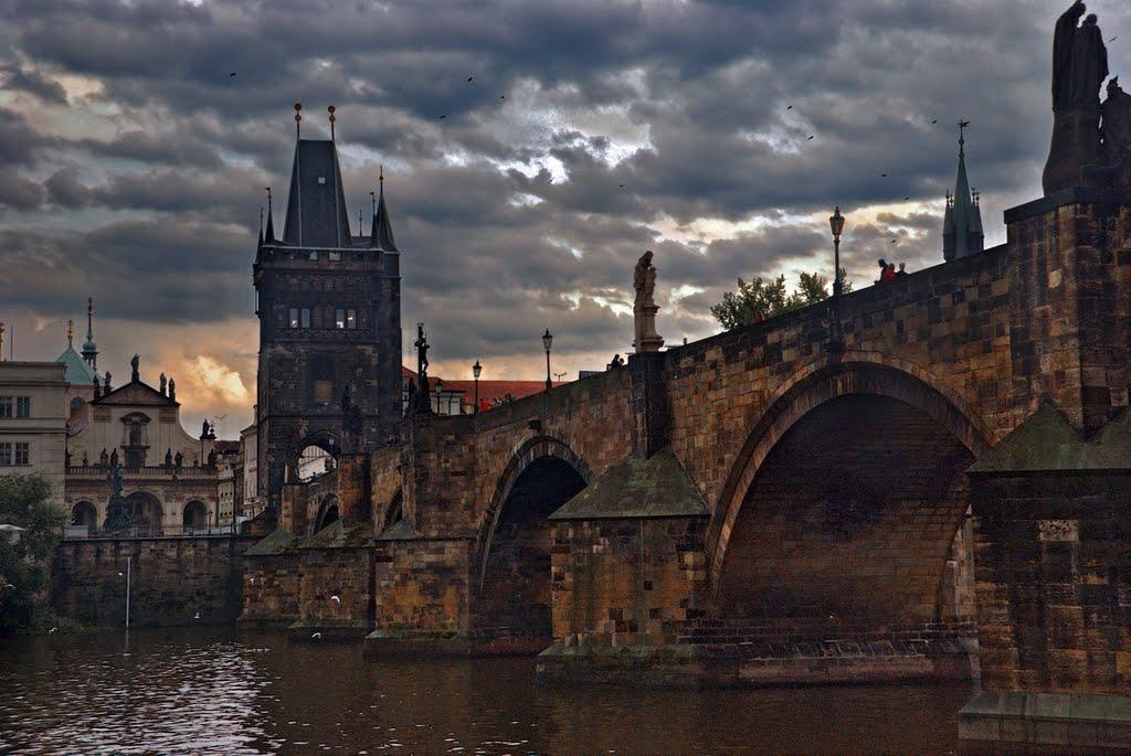 Карлов мост, вечер