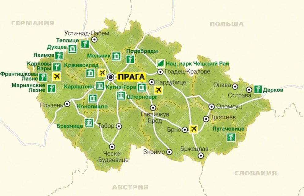 География Чехия