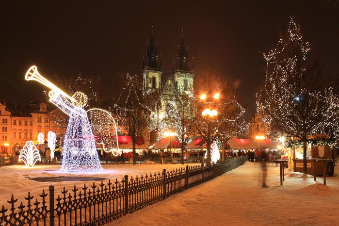 Чехия, Прага. Новый год