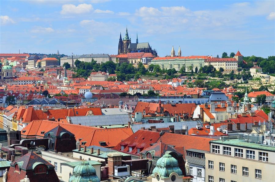 Злата Прага крыши домов