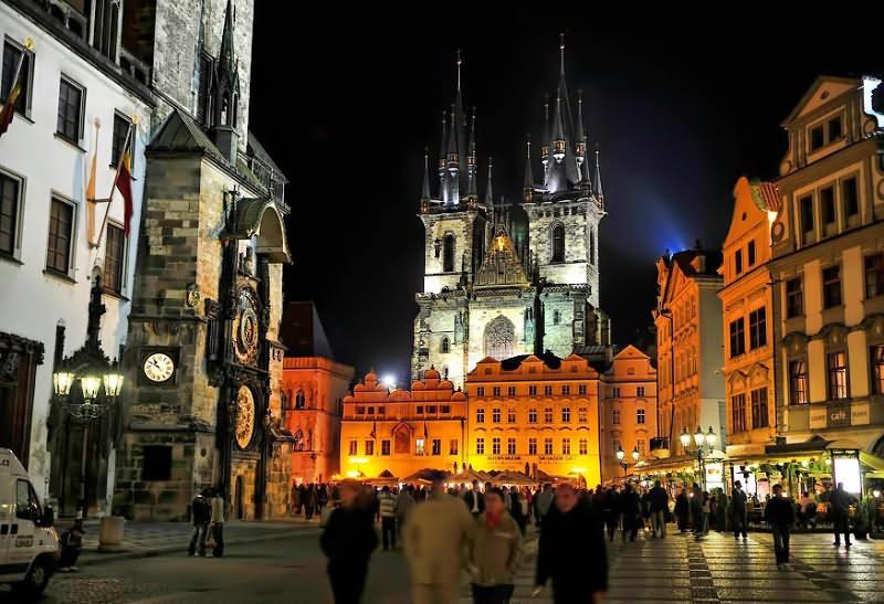 Злата Прага ночь