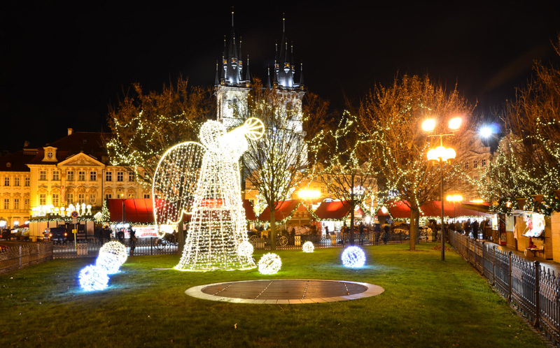 Новый год в Чехии, Прага