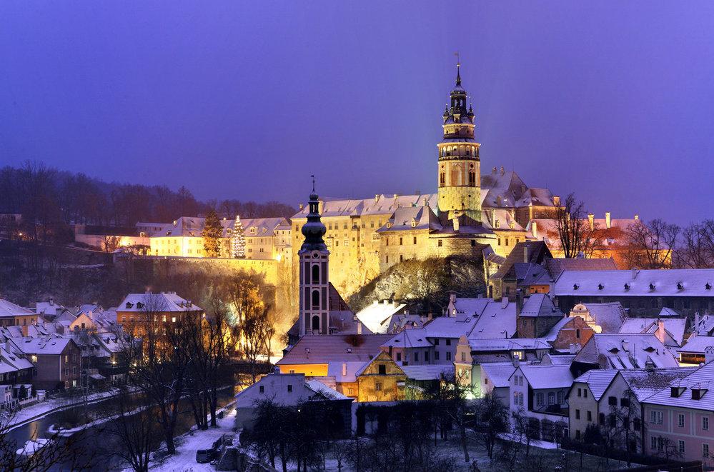 Зимние гулянья в Чехии